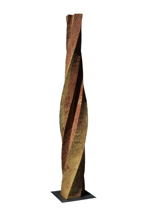 2018.18 Bruno Bienfait, torsion, douglas, h 300 cm.