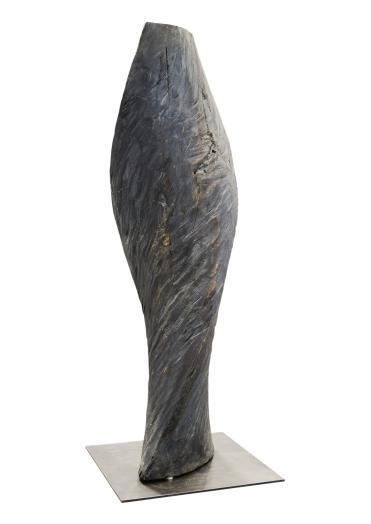 2018.14 Bruno Bienfait, torsion, cyprès, h 135 cm.