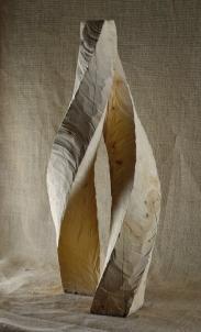 2018.9 Bruno Bienfait, entrelacement, cyprès, h 60 cm.